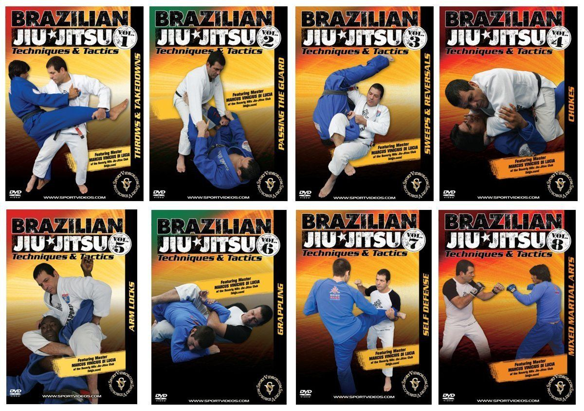 Brazilian Jiu-Jitsu Techniques and Tactics 8 DVD Set - Free Shipping