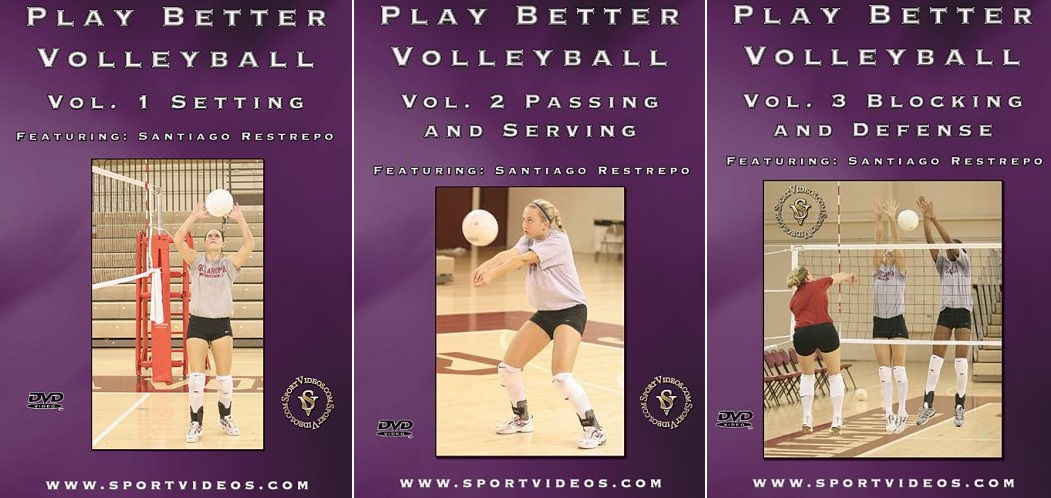 Play Better Volleyball 3 DVD Set or Video Download