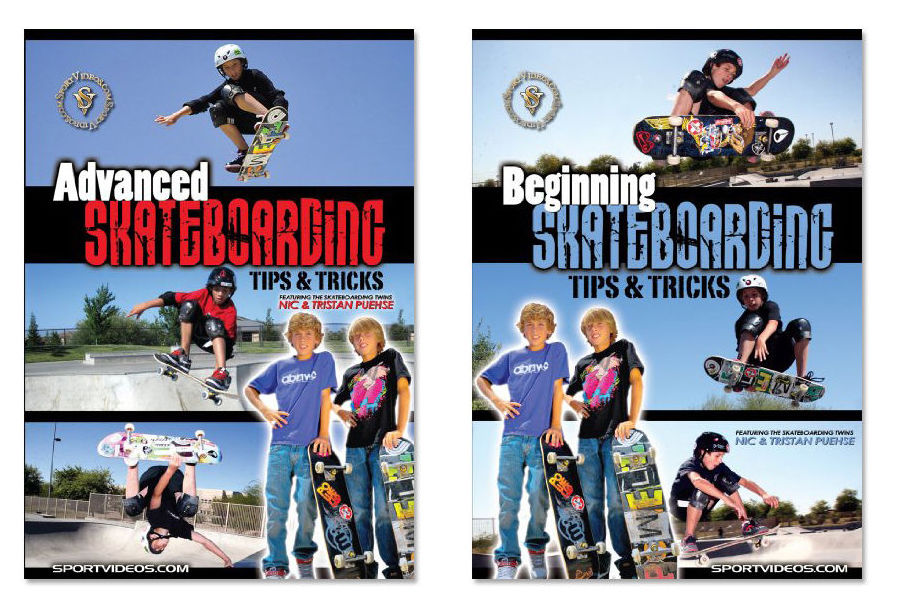 Skateboarding Tips and Tricks DVD or Download Set - Free Shipping