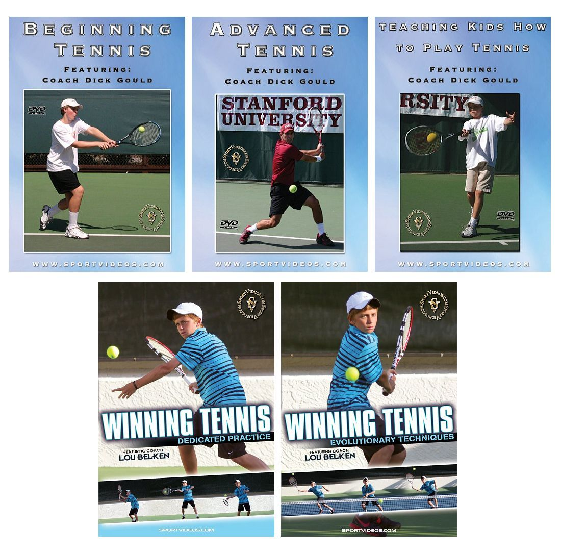 Tennis 5 DVD Set or Video Download- Free Shipping