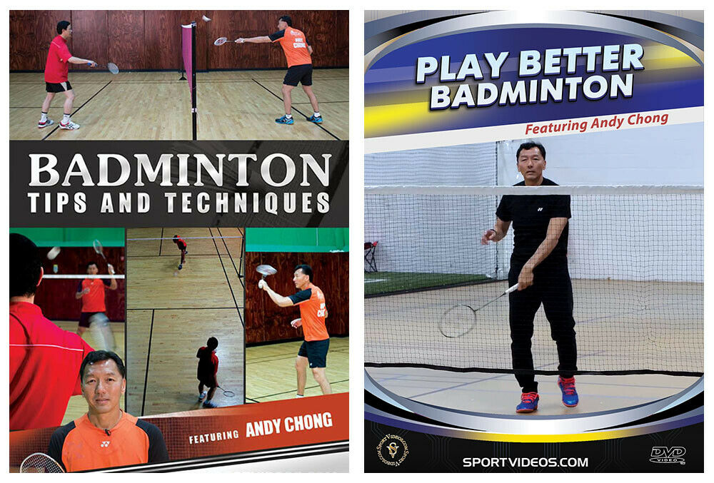Badminton Tips and Techniques and Play Better Badminton with Coach Andy Chong 2 DVD Set