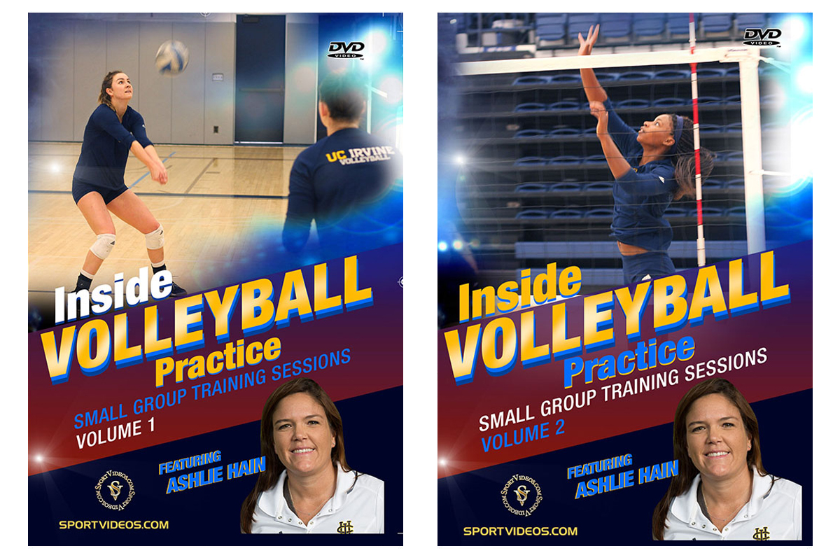 Inside Volleyball Practice Vol 1 and 2 DVD Set or Video Download