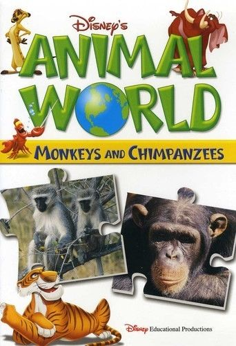 Disney`s Animal World: Monkeys and Chimpanzees DVD NEW 2007 - Free Shipping