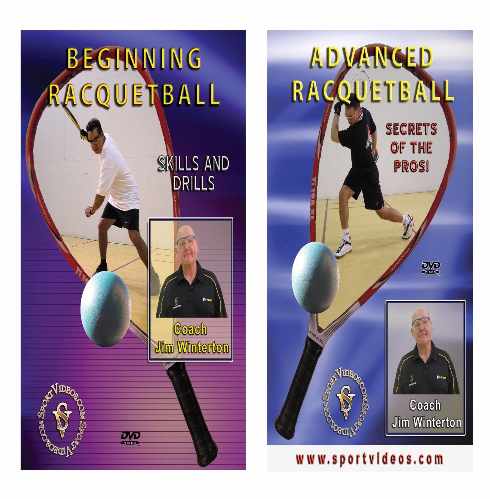 Coach Jim Winterton Racquetball DVD or Download Set - Free Shipping