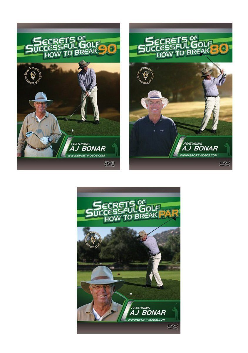 Secrets of Successful Golf 3 Video Series -  Free Shipping