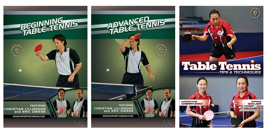 Table Tennis 3 DVD Set or Video Download - Free Shipping