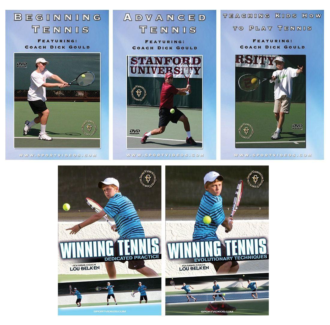 Tennis 5 DVD Set or Video Download- Free Shipping