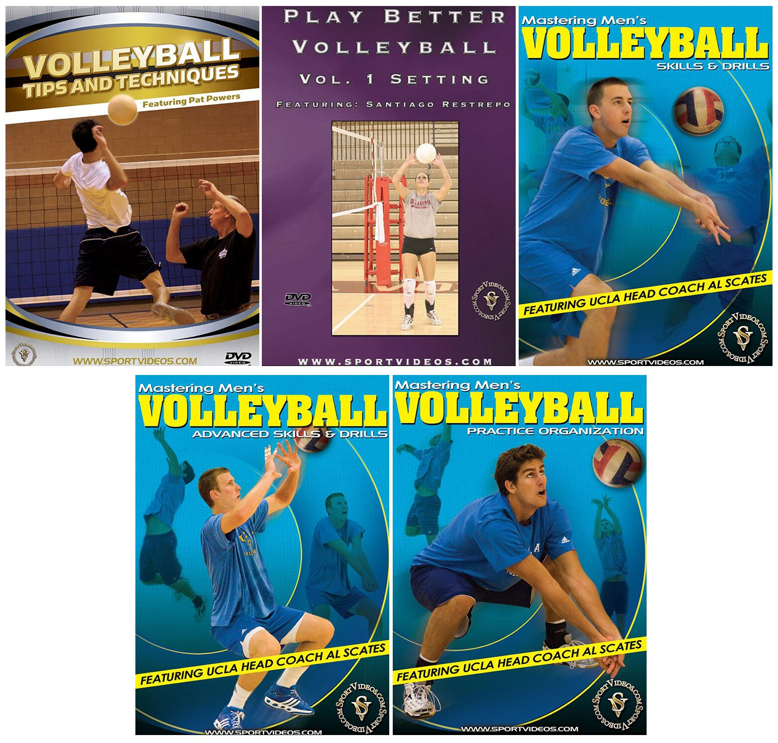 Volleyball 5 DVD Set